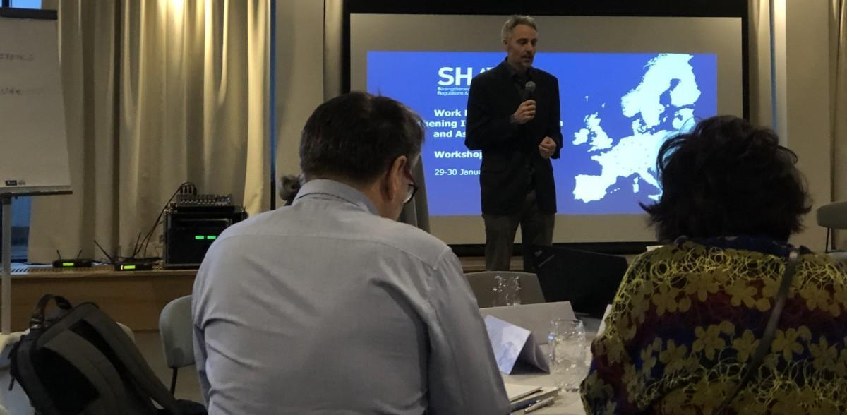 SHARP partners presenting work at a conference